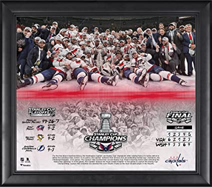 2736b8cc Amazon.com: Washington Capitals 2018 Stanley Cup Champions Framed 15