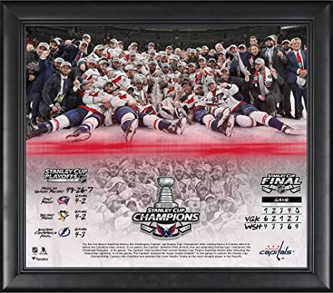 31b583816 Image Unavailable. Image not available for. Color  Washington Capitals 2018  Stanley Cup Champions Framed ...