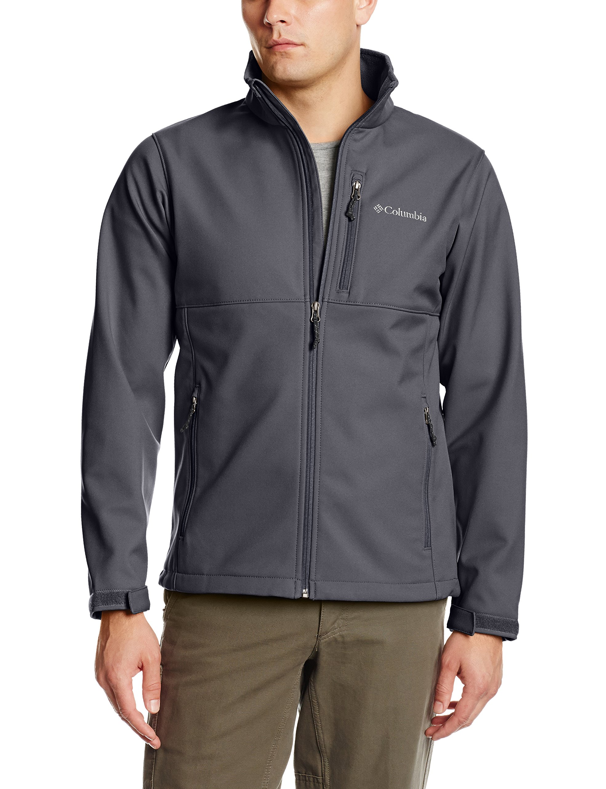 Columbia Men's Big & Tall Ascender Softshell Jacket, Graphite, 3X/Tall