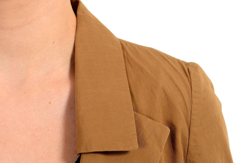 Just Cavalli Brown Short Sleeve One Button Womens Blazer US S IT 40