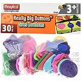 Roylco Really Big Button, 30 Pieces