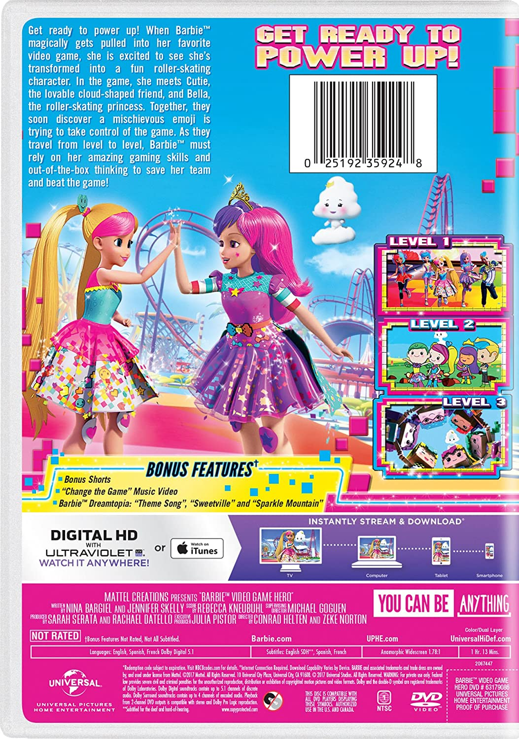 Amazon Barbie Video Game Hero Erica Lindbeck Sienna Bohn Shannon Chan Kent Michael Dobson Alyssya Swales Rebekah Asselstine Brad Swaile