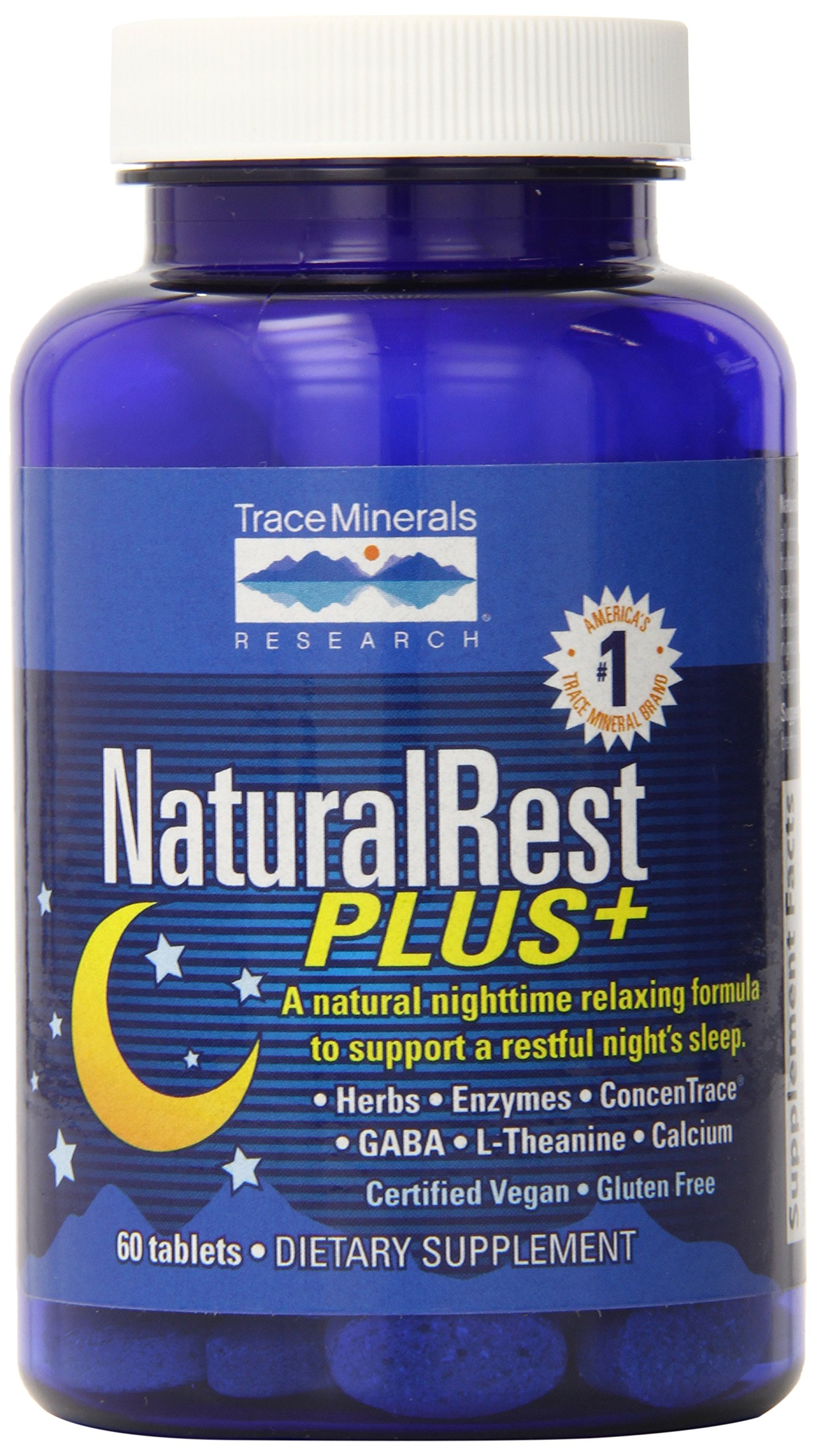 Trace Minerals Research Naturalrest Plus, 60 Count