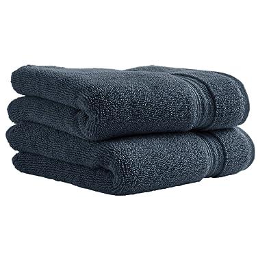 Stone & Beam Classic Egyptian Cotton Hand Towels, Set of 2, Regatta