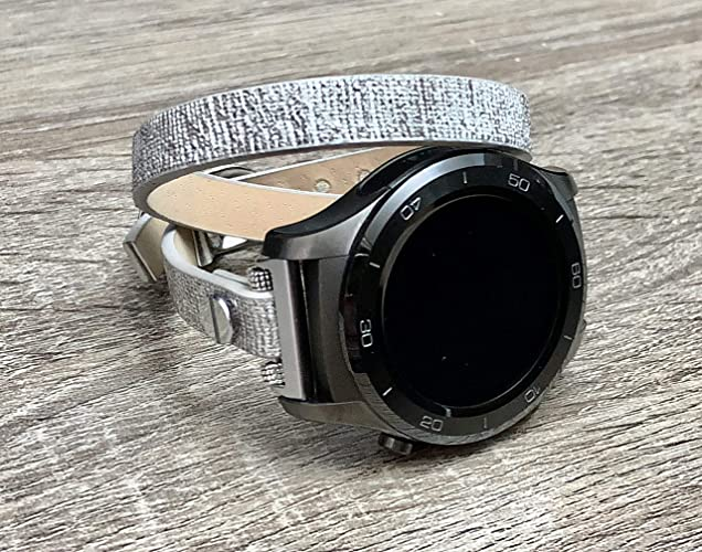 Amazon.com: Fashion Grey Vegan Leather Bracelet For Huawei ...