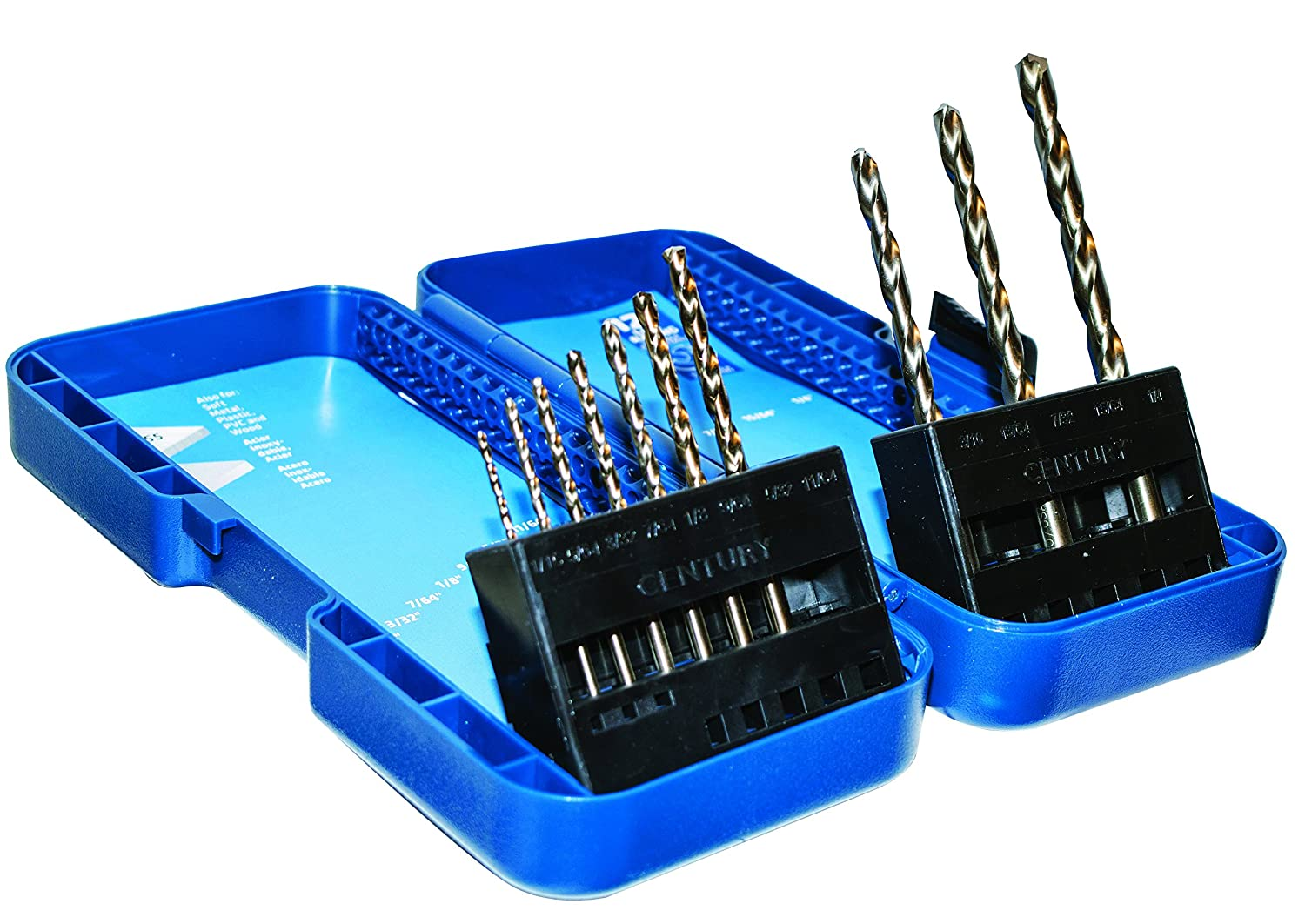 Century Drill and Tool 26310 Cobalt High Speed Steel Drill Bit Set, 10 Piece