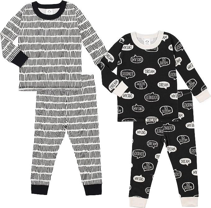 Carters Baby Little Boys Snug Fit 2 Pc Cotton Pjs 12 months, black