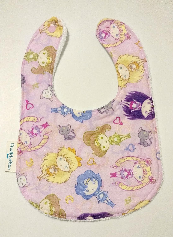 Sailor Moon Bib Terry Cloth Drool Bib