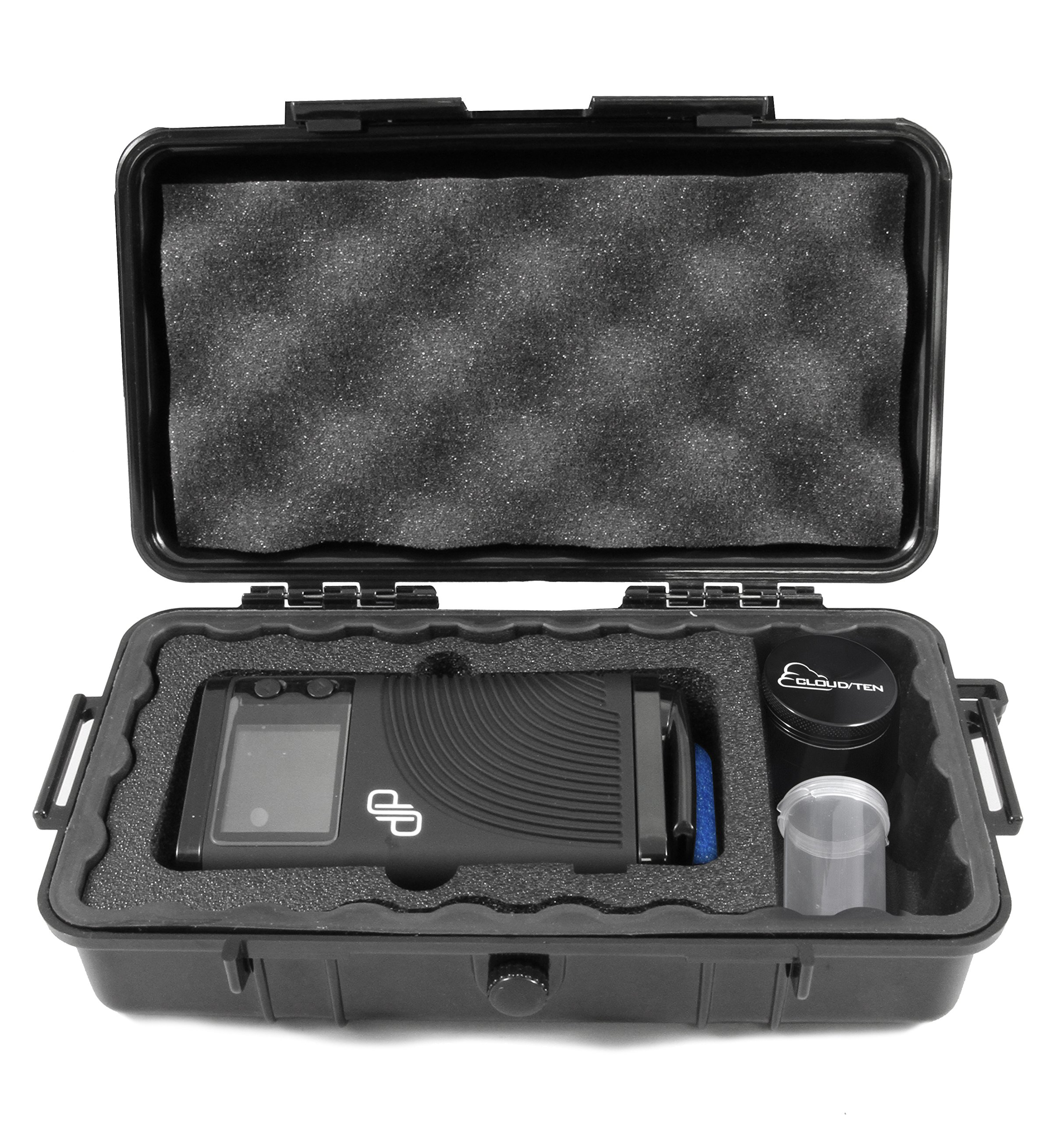 CLOUD/TEN Smell Odor Resistant Carry Case Designed For Boundless CFX, Pods, Cleaning Tools, USB Cable Charger - INCLUDES FREE GRINDER AND CANISTER