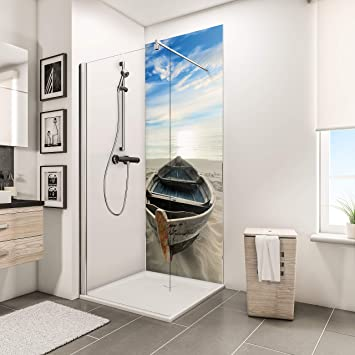 Schulte panneau mural décoratif Décodesign Photo, revêtement mural pour  douche et salle de bains, motif bateau en niche, 90x210 cm