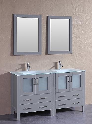 Bosconi AGR230EWGU 60″ Classic Double Vanity Set