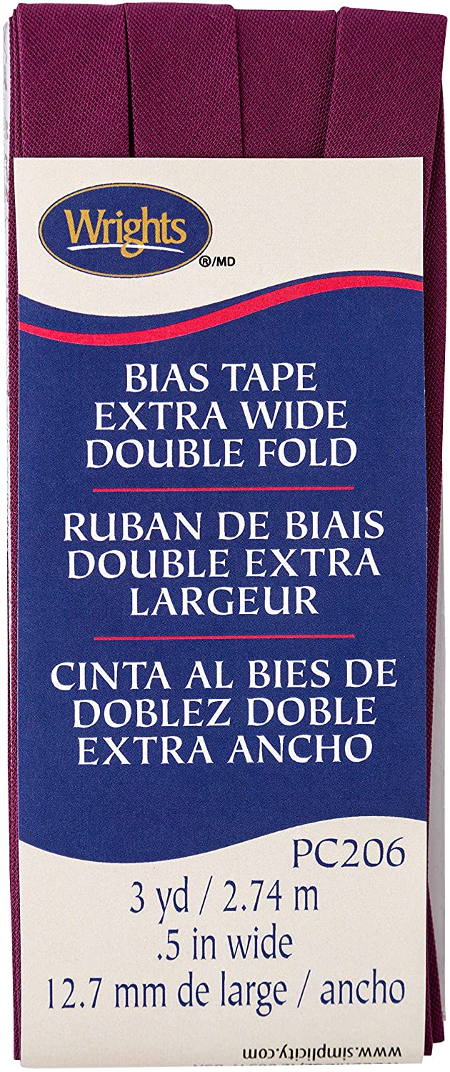Wrights Geranium Double Fold Bias Tape 1/2 x 3 yd 117206387