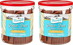 Triumph 2 Pack of Grain-Free Duck Jerky Bites Dog Treats, 20 Ounces Each