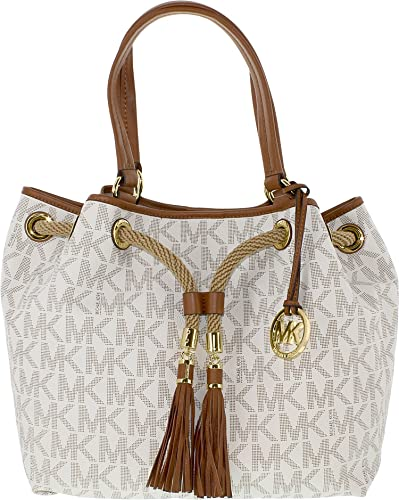 4302a830537406 Michael Kors Marina Large Gathered Tote MK Signature Vanilla: Amazon.co.uk:  Shoes & Bags