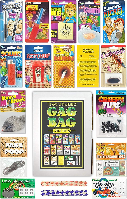 TASS The Master Prankster's Gag Bag Office Edition Prank Kit, Joke Kit, Gag Kit, Prank Pack, Box, Gift, Set Practical Joke Set, Funny Toy Gags Gift Box