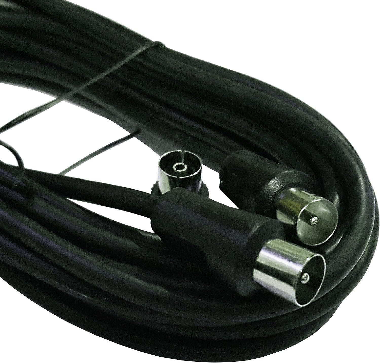 Carrefour Cable de antena 5 M (macho a macho coaxial con ...