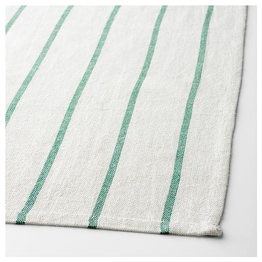 IKEA paños de cocina, para colgar trabillas (8 unidades) verde algodón 20 x 26