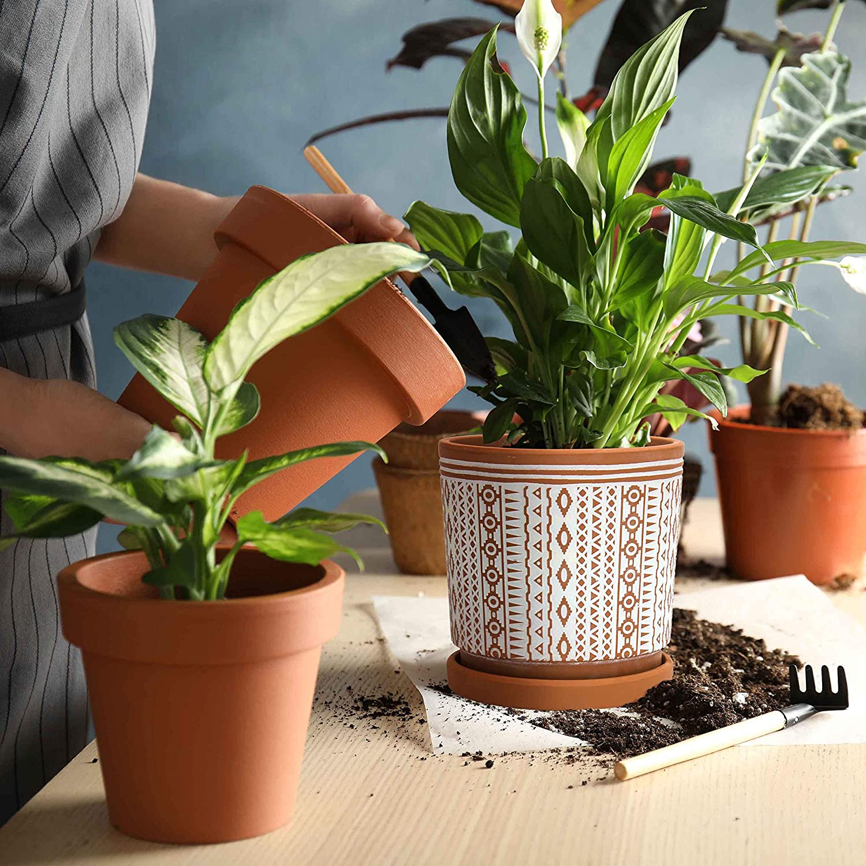Terracotta Totem Design Planter