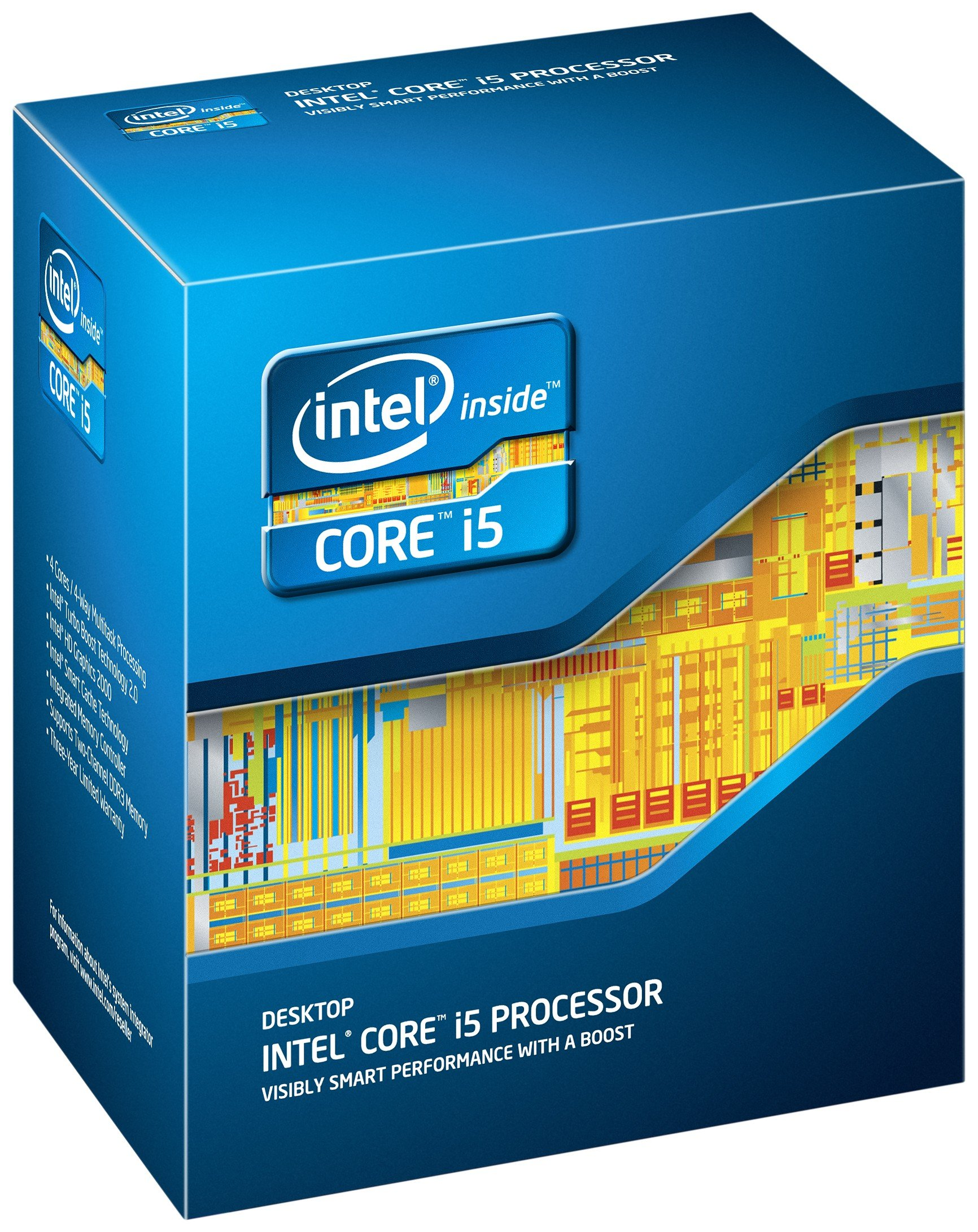 Intel Core I5-2500 Quad-core 3.3 Ghz 6 Mb Cache Lga 1155 - B