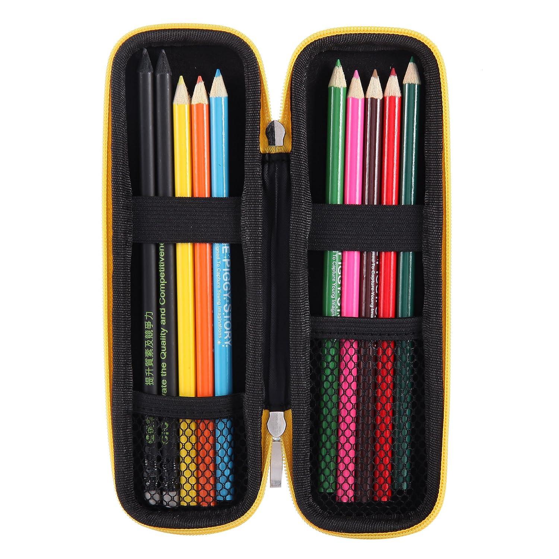 stylets tactiles Petit /étui /à stylo dur noir Etui de transport en EVA//pochette//support pour stylos /à plume stylos /à bille