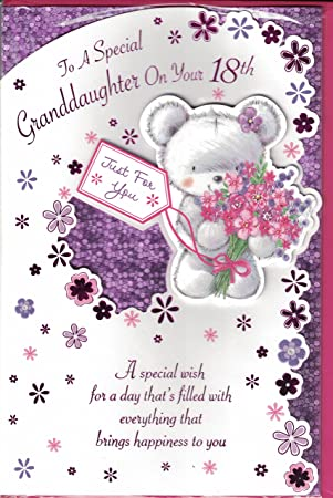 Granddaughter 18th Birthday Card To A Special On Your Modern Cute