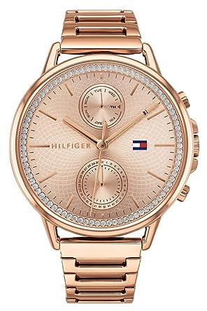 Tommy Hilfiger Reloj Multiesfera para Mujer de Cuarzo con Correa en Acero Inoxidable 1781915: Amazon.es: Relojes