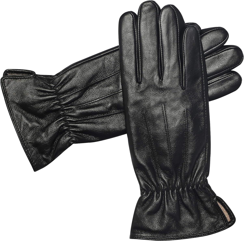 Winter Gloves Women Genuine...