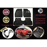 Volga 3D Foot Mats For Maruti Suzuki Baleno New Black Colour