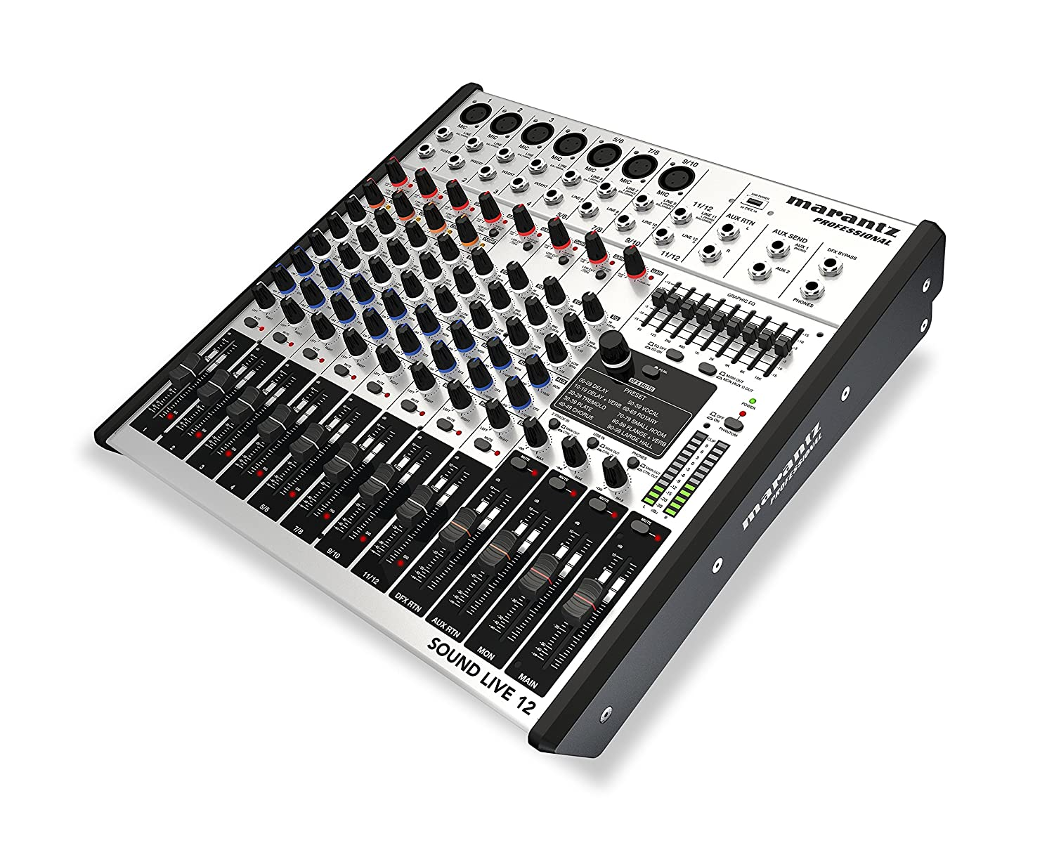 Marantz Professional Sound Live 12-Channel / 2-Bus Tabletop Mixer with 7  XLR Inputs + Mic Preamps