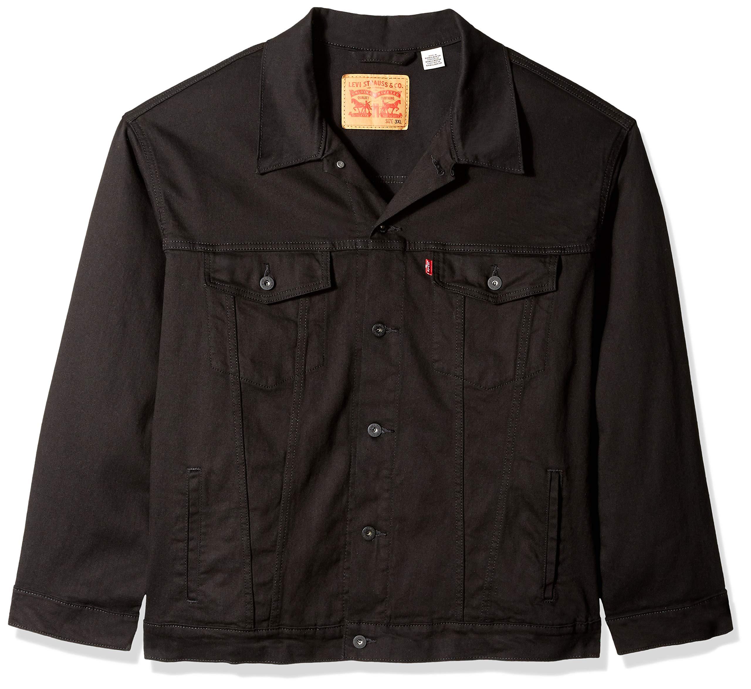 Levi's Men's Big and Tall Big & Tall Trucker Jacket, larimar/Stretch, 6XL by Levi's