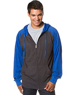 c815e119e2 Global Men s Lightweight T-Shirt Jersey Full Zip up Hoodie Hooded Sweatshirt