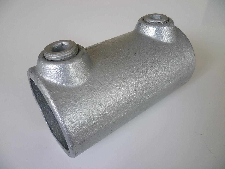 """ghisa malleabile incl zincata a caldo Connettore di prolunga esterno per tubi B/&T Metall T149 /Ø 26,9 mm 3//4/"""" viti di serraggio"""