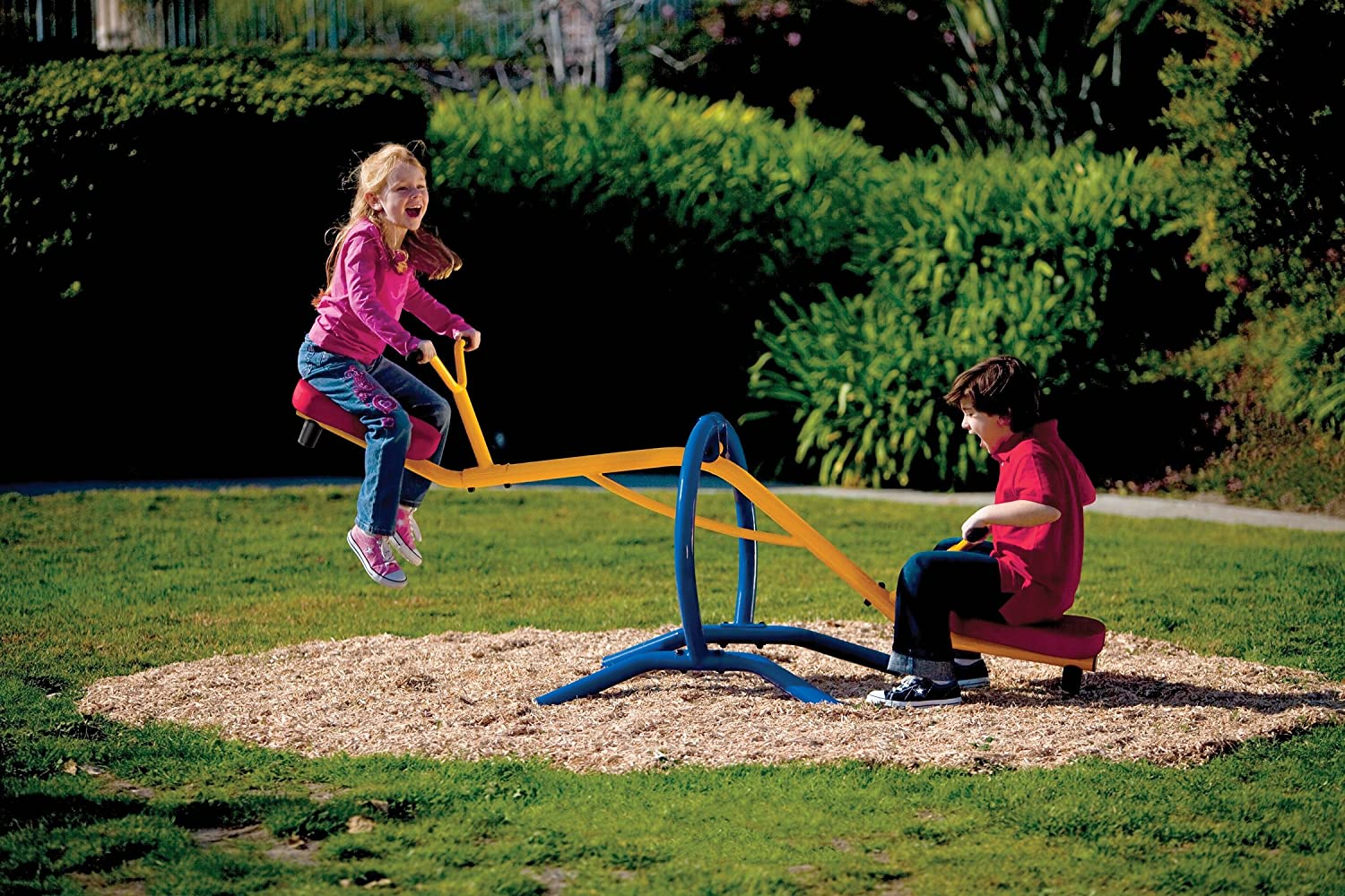 amazon com gym dandy teeter totter home seesaw playground set tt