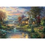 Schmidt Spiele Puzzle 59467 - Thomas Kinkade, Im Naturparadies, 1000 Teile