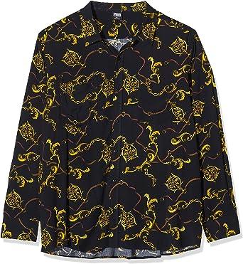 Urban Classics Hemd Viscose Shirt Camisa, Negro (Luxury Black 02356), XXXX-Large para Hombre: Amazon.es: Ropa y accesorios