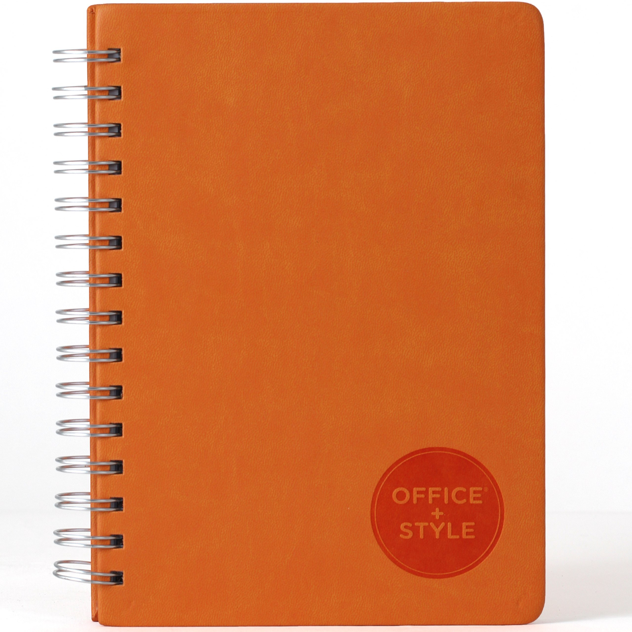 Office+Style PU Personal Graph Notebook with Double Spiral Binding, 96 Sheets, Orange (OS3-NBORG) by Office+Style (Image #2)