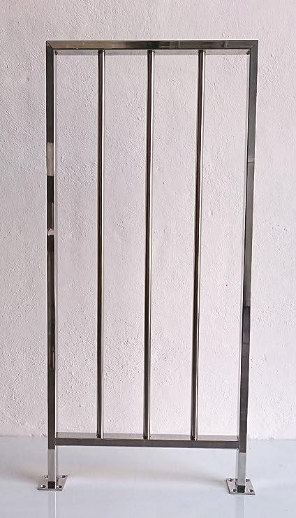 Barandilla inoxidable, barrotes verticales - 100cm: Amazon ...