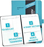 2020 Weekly/Monthly Planner by Action Day - All-in-ONE Layout Design, to Do Lists, Goals, Projects, Dated Diary/Calendar, Time Management - Makes It Easy for You to Get Things Done, 6x8, Turquoise