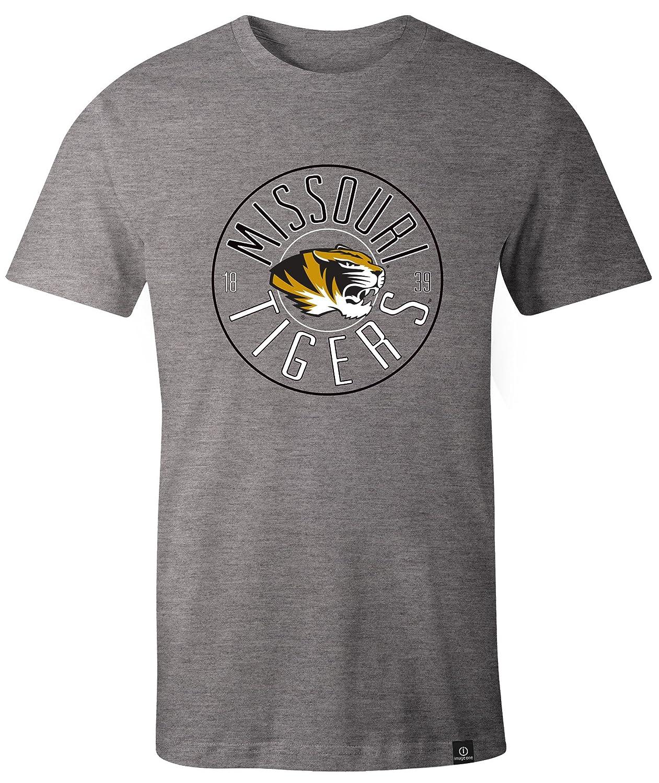 NCAA Missouri Tigers Adult NCAA Circles Image One Everyday Short sleeve T-Shirt Large,HeatherGrey