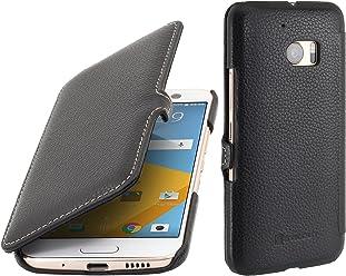 StilGut Book Type avec clip, housse en cuir pour HTC 10, en noir