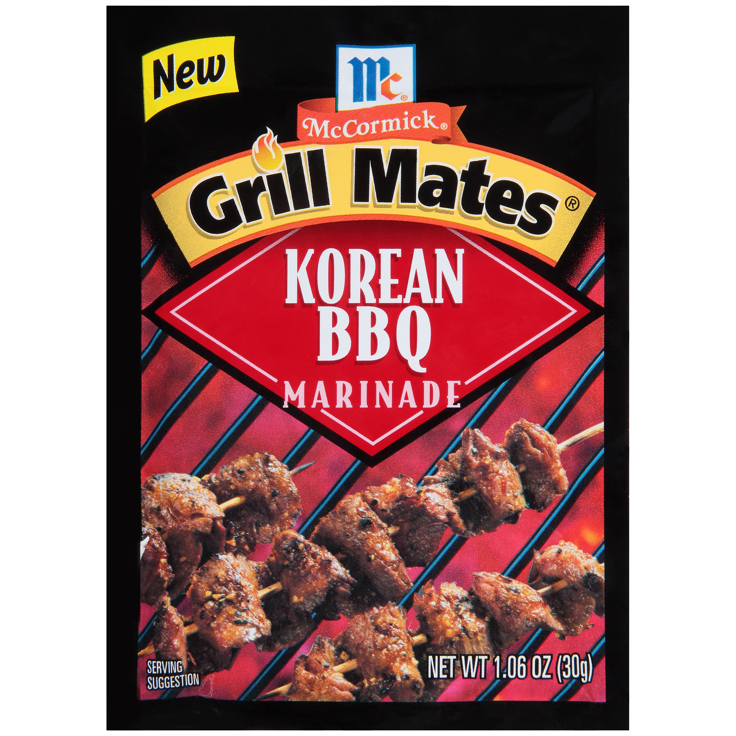 McCormick Grill Mates Korean Bar B Q Dry Marinade, 1.06 Ounce (Pack of 12)