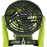 Ryobi P3320 18 Volt Hybrid One+ Battery or AC Powered Adjustable Indoor / Outdoor Shop Fan (Battery and Extension Cord Not In