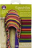 """Dritz Espadrilles Outer Fashion Multi Stripe Fabric, 16 x 22"""", Striped, Multicolor"""