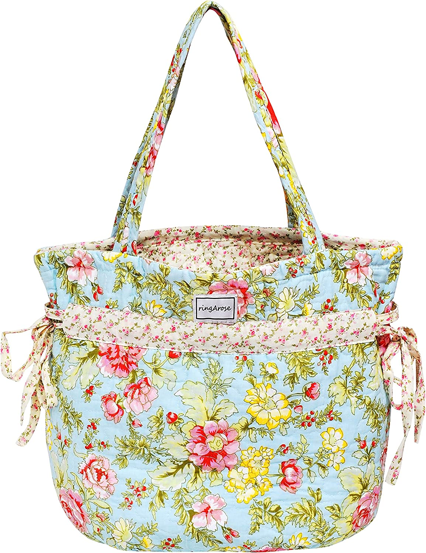 Ringarose Acolchado Floral 100% algodón Lazo Lazos Bolso Hombro ...