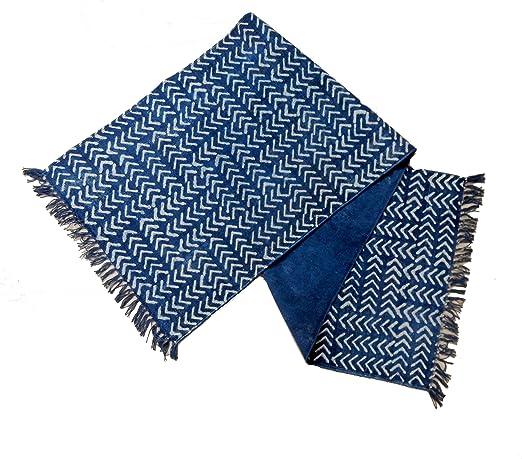 iinfinize – Alfombra para Yoga de 2 x 6 pies 100% algodón teñido de Corbata, Alfombra Azul índigo, tapete Decorativo para Yoga, Manta Vintage para Interiores y Exteriores: Amazon.es: Hogar