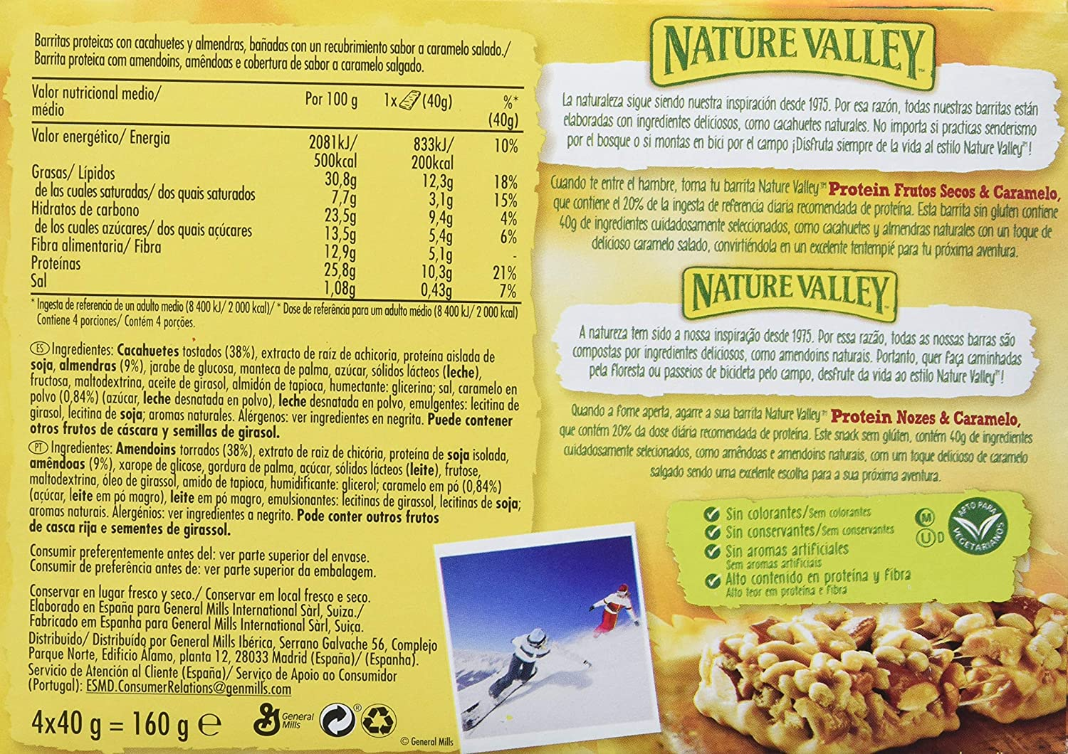 Nature Valley - Barritas de Proteinas con Salted Caramel Nut - Caja de 4 unidades: Amazon.es: Amazon Pantry