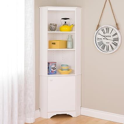 fc11bdb0b111 Amazon.com: Prepac WSCC-0604-1 Elite Home Corner Storage Cabinet Tall 1-Door,  White: Kitchen & Dining