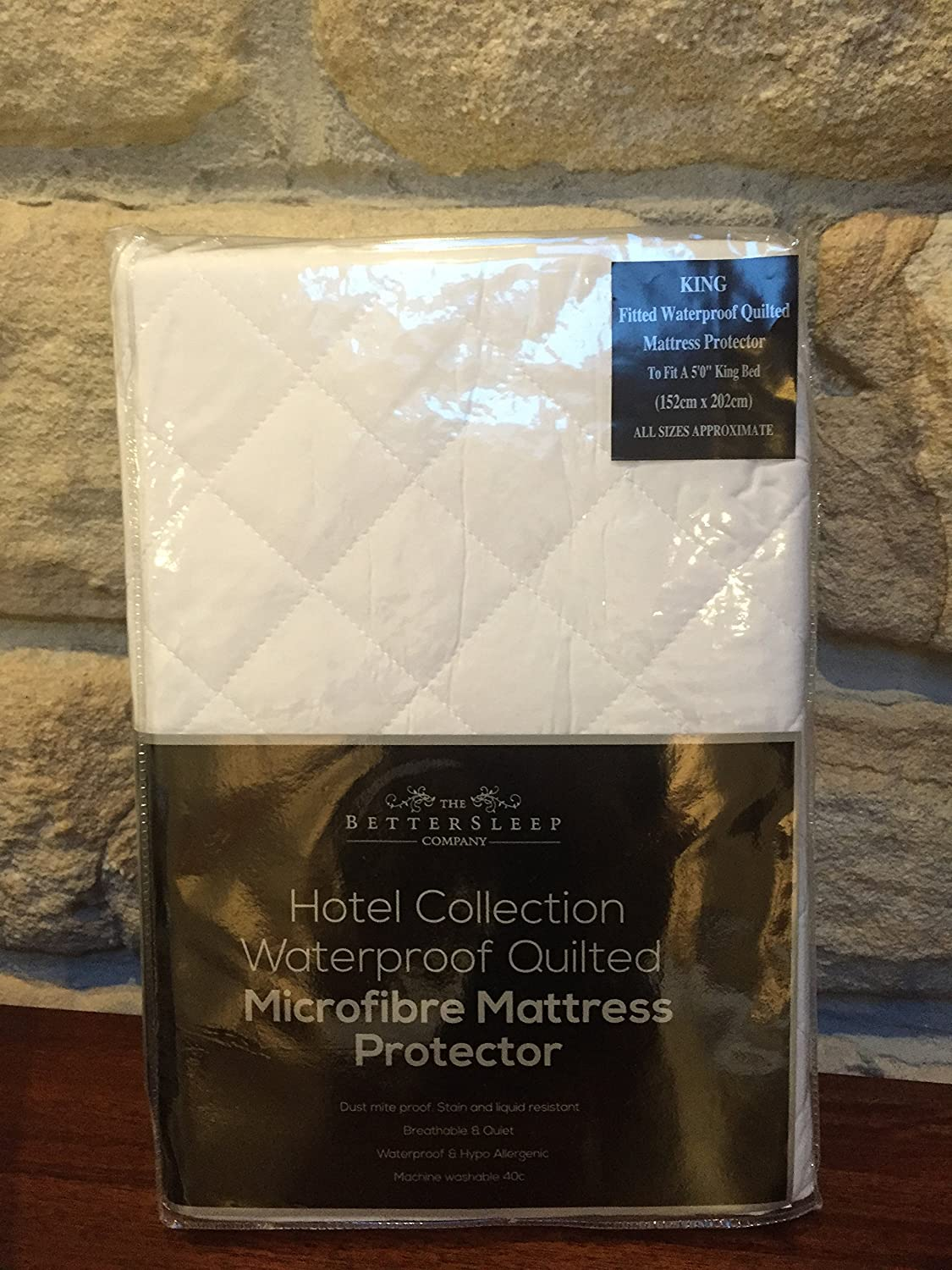The Bettersleep Company Brand Waterproof Quilted Microfibre Mattress  Protectors King Size Bed- Hotel Quality Anti Dustmite, Waterproof,  Absorbent, ...