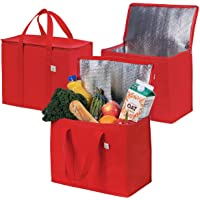 Insulated Reusable Grocery Bag by VENO, Durable, Heavy Duty, Extra Large Size, Stands Upright, Collapsible, Sturdy…