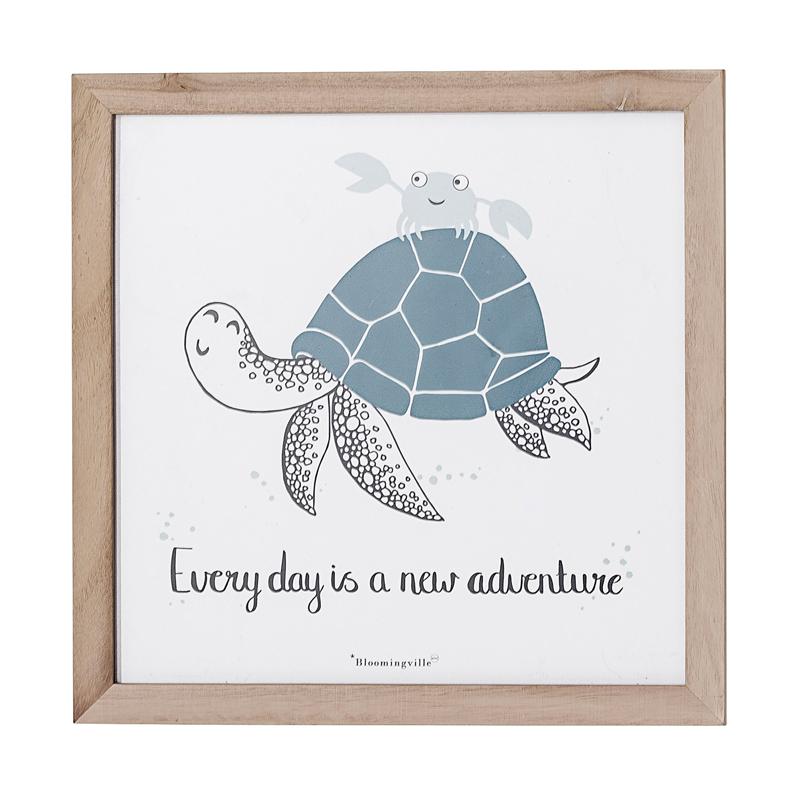 Bloomingville A50166674 Every Day is A New Adventure Sea Turtle Wall Decor